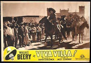 VIVA VILLA! Wallace Berry JACK CONWAY FOTOBUSTA ORIGINALE POSTER WESTERN 3