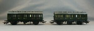 Märklin HO Scale 330/1 DB 2nd & 3rd Class Tri Axle Lighted Passenger Coaches - 2