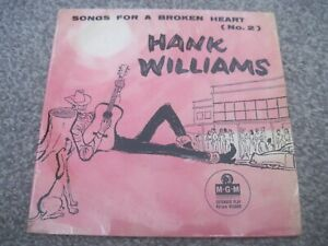 HANK WILLIAMS Songs For A Broken Heart (No 2) EP  1958 MGM    VG+