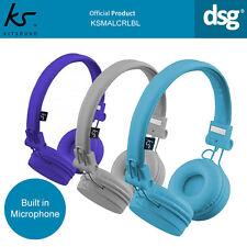 Official KitSound Malibu Headphones Lightweight Foldable Headband Microphone