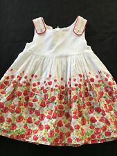Mayoral White Cotton Dress With Poppies - 18 Months