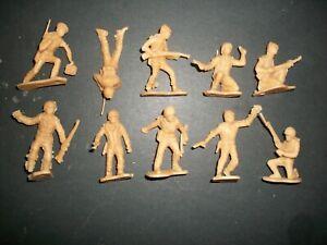 Lot of 54mm plastic WW2 U.S. original figures by Marx