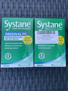 2 Pack Systane  Preservative-free 30 Vials Lubricant Eye Drops Exp:12/21++