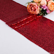 "Polyester Sequin Table Runners 12""x71"" Sparkle Glitter Wedding Party Decorations"