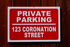 Personalised Custom Private Parking Address Sign 3mm Foamex PVC Plastic 30x20cm