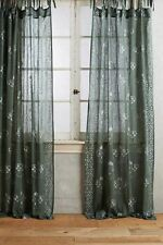"NEW ANTHROPOLOGIE GREEN GLEAMING ELORA CURTAIN WINDOW PANEL 50"" X 108"""