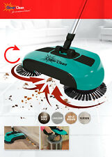 Cyclonic Broom Kehrbesen mit 3-Bürsten-Technik Farbe Türkis