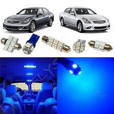 13x Blue LED lights interior package kit for 2007-2014 Infiniti G35/G37/Q50 IG2B