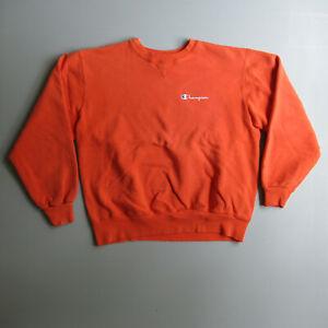 Vintage Faded Orange Champion Crewneck Sweatshirt Made in the USA