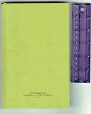 NEW-Fed Supply Svc-Green Hardback Journal/Notebook-Military-Engineering-Free S&H