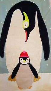 Mini-Boden girls applique penguin jersey dress/tunic age 11-12, new, BNWT, blue