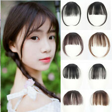 Charming Clip On/In Front Bangs Fringe Hair Extension Straight Invisible Hair