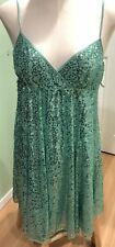 Betsey Johnson Evening Party Dress Green Sequins Women's Size 10