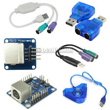 Dual PSX/PS1/PS2 Female to USB Male Converter Keypad Driver Adapter for Arduino