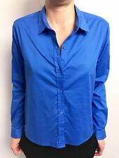 STUNNING GORMAN BLUE LONG SLEEVE WIDE BODY SHIRT SZ 10