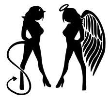 Angel & Devil Small Decal / Sticker