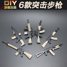 6pc 1/6 Scale Assembled Assault Rifle Model Gun Weapon Toys Figure Accessories