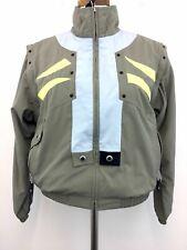 Jamie Sadock S Jacket Taupe Womens Full Zip Lined Zip Pocket Zip-Off Sleeves