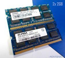 4GB RAM Lot ELPIDA DDR3 PC 3 SODIMM  2x 2GB Laptop Memory PC3-10600S