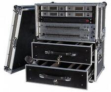 Flightcase  Transportcase mit 2-Schubladen und Zubehör Größe 2 19 Zoll Rack