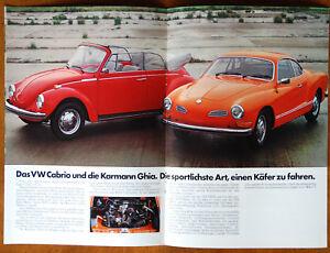 Volkswagen 1973 range brochure Prospekt (German text)