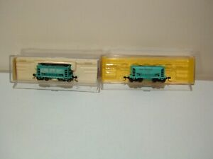 Atlas  set of 2 ore cars w/diff road #'s Great Northern(green)(A) N-scale