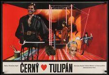 La TULIPE NOIRE BLACK TULIP Czech A1 movie poster ALAIN DELON VIRNA LISI Rare