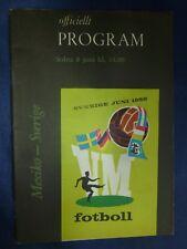 1958 World Cup Finals Programme: Mexico v Sweden , 8th June (Orginal)
