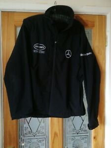 Mercedes Benz Showerproof Jacket size Large Black Zip Russell Lewis hamilton