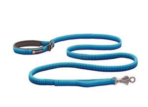 RUFFWEAR ROAMER BUNGEE DOG LEASH IN BLUE ATOLL NWOT