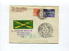 Brazil 1930 Graf Zeppelin Cover - 10000 on 20000r Provisional - Sieger 59 H