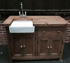 Complete Package , Belfast Sink , Tap , Wooden Kitchen Unit And Worktop