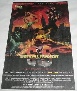 1998 WWF SUMMERSLAM wrestling ad page ~ Steve Austin vs Undertaker