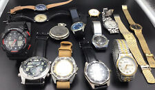 Lot Of 14 Mens Watches Some Vintage & New Casio,seiko,Richard Solo,Gruen,Benrus