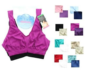 2 Pack Bra Barely There Bali Comfort Revolution Crop Top Seamless Wirefree, 103J