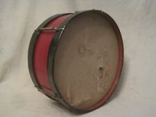 *damaged vintage drum red & black springs cloth head? tin toy percussion