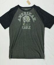 Mens AEO Signature Graphic T-Shirt MT Tar Ash Gray American Eagle
