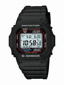 Casio G-Shock Men's Tough Solar Atomic Black Resin Sport 47mm Watch GWM5610-1