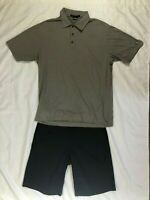 Nike Golf TOUR PERFORMANCE Dri-Fit Shorts Sz 32 & Tiger Woods Polo Shirt Med