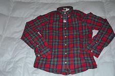Authentic A&FAbercrombie & Fitch Plaid Cotton Shirt  Red Mens Size XL