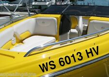 """4"""" Set Boat Pontoon Registration Numbers Waverunner Jet Ski Sea Doo Vinyl Decal"""