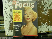 VINTAGE FOCUS MAG -2/55- Ruby Richards / Cleo Moore / Gina Lollobrigida