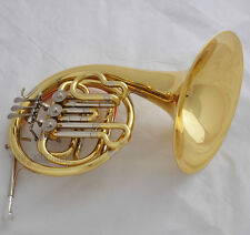 Brand New Gold Student French Horn Bb 3 Key cupronickel tuning pipe with case