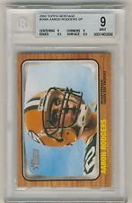 Aaron Rodgers 2005 Topps Heritage Rookie SP #344A BGS 9 MINT