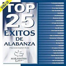 Top 25 Exitos De Alabanza 2CD Set Maranatha latin Musica Cristiana Varios NEW