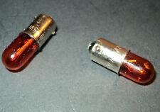 2X SIDEMARKER LAMP Bulb sidelight  T4W VW GOLF MK 1 MK 2 BULB AMBER 12v 5w BA9S
