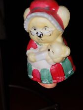 Caring Critter Chimers by Jasco 80's Handcrafted Bell Bisque w hang tag