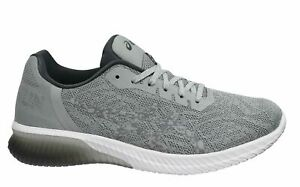 Asics Gel-Kenun Grey White Low Lace Up Mens Running Trainers T7C4N 9696