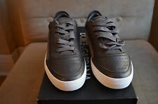 DOLCE & GABBANA COOL BROWN SUEDE & SMOOTH LEATHER LOW TOP SNEAKERS SHOES 5 38
