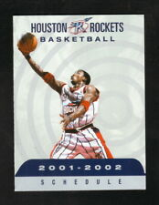 Steve Francis--Houston Rockets--2001-02 Pocket Schedule
